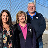 BEN MIKESELL | THE GOSHEN NEWS<br /> Angie Gingerich, left, Tracy Anglemeyer-Mandell, center, and Chris Mandell are the new owners of the New Paris Speedway.