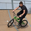 BEN MIKESELL | THE GOSHEN NEWS<br /> Michael Corral, 15, rides his bike while enjoying Goshen High School's spring break Wednesday afternoon at the Tyler S. Joldersma Skate Park.