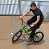 BEN MIKESELL | THE GOSHEN NEWS<br /> Michael Corral, 15, rides his bike while enjoying Goshen High School's spring break Wednesday afternoon at the Tyler S. Joldersma Skate Park.