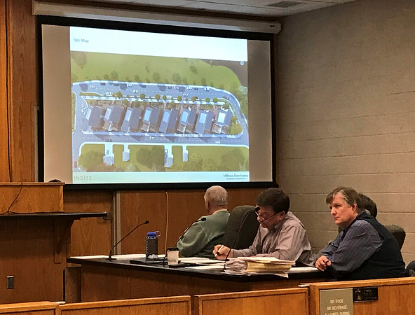 JOHN KLINE | THE GOSHEN NEWS<br /> Goshen Redevelopment Commission members Tuesday approved a $93,000 purchase agreement with Mishawaka-based development firm InSite Development for the former Millrace Townhomes site on the east side of the Goshen millrace. The firm plans to construct a new townhomes development on the site at a cost of about $4.2 million.