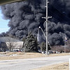 LORI KAIJALA | CONTRIBUTED<br /> Lori Kaijala provided this photo for The Goshen News of Forest River Plant 59 burning. The factory caught fire at about 4 p.m. and is located at 411 C.R. 15, Elkhart. We'll provide more information as it becomes available.