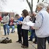 BEN MIKESELL | THE GOSHEN NEWS<br /> People gather to worship during Thursday's National Day of Prayer in front of the Elkhart County Courthouse.