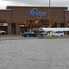 BEN MIKESELL | THE GOSHEN NEWS<br /> Water rises in the parking lot of Kroger early Wednesday morning in Goshen.