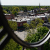 BEN MIKESELL | THE GOSHEN NEWS<br /> Goshen's Main Street, as seen from the Elkhart County Courthouse clock tower.
