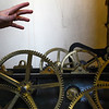 BEN MIKESELL | THE GOSHEN NEWS<br /> The gears that make up the clock mechanism are undergoing repairs this week at the Elkhart County Courthouse.