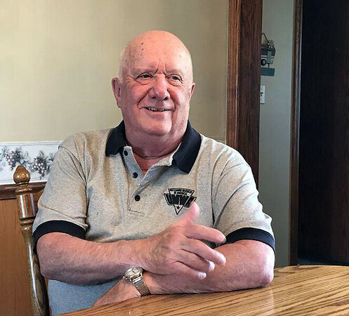 David Sutor | CNHI News Service<br /> John Kline traces his career with the United Mine Workers of America and his political leanings during an interview at his home in Nicktown, Pennsylvania April 24.