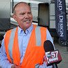 BEN MIKESELL | THE GOSHEN NEWS<br /> Grand Design RV CEO Don Clark speaks to the media following a tour of the facility with U.S. senator Mike Braun Wednesday in Middlebury.