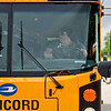 BEN MIKESELL | THE GOSHEN NEWS<br /> Concord Community Schools bus driver Angie Marshall navigates through the obstacle course during the school bus rodeo Tuesday at Concord Junior High.