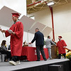 BEN MIKESELL | THE GOSHEN NEWS<br /> Senior Colton Marchant walks across the stage to graduate Thursday evening at Westview Jr. - Sr. High School.