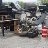 BEN MIKESELL | THE GOSHEN NEWS<br /> Grills, antennas and other equipment are just a few of the items thrown out this week during Beautify Goshen Week at the Goshen Street Department.