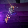 Joseph Weiser | The Goshen News<br /> Circus performer performing a daring high wire motor cycle ride during the Shipshewana Majestic: The Circus at the Michiana Entertainment Center on Monday. The Circus will be performed from Monday, October 28 through Saturday, November 2nd.