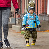 Joseph Weiser | The Goshen News<br /> Emilio Caballero, 1, of Syracuse dresses up as a dinosaur during the downtown Goshen trick or treat on Thursday.