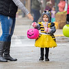 Joseph Weiser | The Goshen News<br /> Leilani Camaelo, 2, of Goshen dresses up a as a bumble bee for the downtown Goshen trick or treat on Thursday.