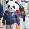 Joseph Weiser | The Goshen News<br /> Jonathan Alonzo, 10, of Goshen dresses up as a panda during the downtown Goshen trick or treat on Thursday.