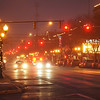 Joseph Weiser | The Goshen News<br /> Downtown Goshen begins to take shape in time for the  holidays Monday. Image taken from the intersection of Main St. and E. Madison St.
