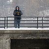 Tommy Sailor, of Elkhart bares the cold weather to caste his line at the Goshen Dam Thursday.