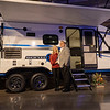 Joseph Weiser | The Goshen News<br /> KZ-RV General Manager Dave Boggs and his wife Shannun Boggs of Warsaw pose for a photo with The Venture Sonic X during the RV Business RV of the year 2020 show at the RV/MH Hall of Fame and Museum in Elkhart Thursday.