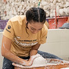 Joseph Weiser | The Goshen News<br /> Monica Alvarez, 16, of Elkhart shapes her clay form during the 21st annual Concord High School Potters Marathon to benefit Riley Children's Hospital. The goal this year is to make $45,000.00. Since 1999 CHS has raised $413,000.00.