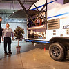 Joseph Weiser | The Goshen News<br /> John Stscherban of Mishawaka and Jason Ciasko of Granger overlook the exterior of The Venture Sonic X during the RV Business RV of the year 2020 show at the RV/MH Hall of Fame and Museum in Elkhart Thursday.