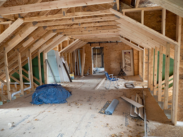 Joseph Weiser   The Goshen News<br /> The Fields Family Farmhouse is being remodeled with new siding and new basement. Originally built in 1834 as the first post frame house in Elkhart County.
