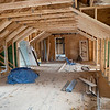 Joseph Weiser | The Goshen News<br /> The Fields Family Farmhouse is being remodeled with new siding and new basement. Originally built in 1834 as the first post frame house in Elkhart County.