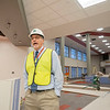 Joseph Weiser | The Goshen News<br /> Jim Pickard, assistant principal of Goshen High School, leads a group of Goshen school board members and members of the public on a tour of the new construction at Goshen High School prior to the board's meeting Monday evening. The renovation work at the high school is connected to the major construction referendum approved by voters during the May 2018 primary election.