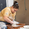 Joseph Weiser | The Goshen News<br /> Elizabeth Mulcahey, 16, of Elkhart shapes her clay form during the 21st annual Concord High School Potters Marathon to benefit Riley Children's Hospital. The goal this year is to make $45,000.00. Since 1999 CHS has raised $413,000.00.