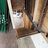 Joseph Weiser | The Goshen News<br /> The Fields Family Farmhouse is being remodeled with new siding and new basement. Originally built in 1834 as the first post frame house in Elkhart County. A portion of the original framework remains intact.