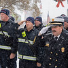 Joseph Weiser | The Goshen News<br /> Goshen fire department honoring America  during the Goshen Veteran's Day Ceremony at the Elkhart County Court House Monday.