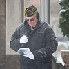 Joseph Weiser | The Goshen News<br /> Joe Farrell of Goshen delivers the invocation during the Goshen Veteran's Day Ceremony at the Elkhart County Court House Monday.