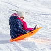 Emma Tsybulnik, 5, of Goshen sledding down the hill at Abshire Park after a record snowfall for Elkhart County of 13 inches fell between Monday night and Tuesday morning. The previous record for Nov.11-12 of 3 1/2 inches was set back in 1959.