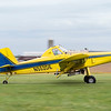 Joseph Weiser | The Goshen News<br /> Pilot of Agriflight in Wakarusa takes off from Eby Field-1174 in an Air Tractor 502 with fertilizer attachment on Wednesday, October 02. 2019.