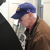 AIMEE AMBROSE | THE GOSHEN NEWS<br /> Chuck Krumwiede, Elkhart, votes early for the 2019 elections at the voting location in the Lincoln Center, 608 Oakland Ave., in Elkhart Wednesday.