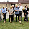 Sheila Selman | The Goshen News<br /> Members of First Baptist Church of Goshen and representatives from DJ Construction in Goshen break ground on a new 4,090-square-foot addition and subsequent 6,900-square-foot renovation of the church church officials said the changes will allow the church to better serve those to whom it ministers, especially children and teenagers. The church is located at 1011 S. Indiana Ave. From left are Chuck Hochstetler, church trustee; Cal Cripe, church deacon; Dan Geyer, building campaign committee; Patrick Lee, co-chairmain of the building campaign; Bruce Whirledge, building committee; Steve Walker, campaign co-chairman; the Rev. Jim Shrock, associate pastor; John Christner, building committee; the Rev. Gregg Lanzen, lead pastor; Scott Christner, building committee; the Rev. Brant VanHooser, associate pastor; Julie Hanna, building committee; Mike Stadelmayer, church growth services; Dustin Miller, DJ Construction; Enos Yoder, DJ Construction; John Gingerich, church trustee; and Michelle Edmonds of the church.