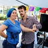 AIMEE AMBROSE | THE GOSHEN NEWS <br /> Stephanie Honderich and J.D. Nafziger of Go Dance Studio dance a salsa to music performed by Salsita y Toston band during the fourth annual Salsa Festival at Goshen Farmers Market, 212 W. Washington St., Saturday.
