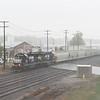 Joseph Weiser   The Goshen News<br /> A view of a Norfolk Southern Railroad train crossing East Lincoln Ave. from the U.S. 33 overpass during the thunderstorm coming through Goshen, IN on Friday, September 27, 2019.