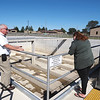 Joseph Weiser | The Goshen News<br /> Nappanee Utilites Manager Gale Gerber speaks with Brookline Moore about the Nappanee sewer overflow plant on Thursday, September 26, 2019 at the Nappanee Waste Treatment Plant in Nappanee, IN.
