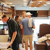 AIMEE AMBROSE | THE GOSHEN NEWS <br /> A group checks out the interior and the $745,000 sticker price of a 2020 Entegra Cornerstone motorhome at Thor Motor Coach's exhibit area  during the 2019 RV Open House at the RV/MH Hall of Fame in Elkhart Tuesday.