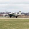 Macfadden and Son's Inc. Pilot Jim Macfadden, of Sharon Springs, New York, lands his plane at Goshen Municipal Airport Wednesday afternoon.