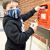 Kaiser Salazar, son of Emma Estep and Jack Salazar drops his letter into Santa's mailbox at Prairie View Elementary School. Kaiser attends Prairie View Elementary.