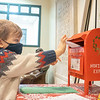 Nolan Wheeler, 3, son of Lee Wheeler, drops his letter into Santa's mailbox at the Goshen Public Library. He attends Walnut Hill Early Childhood Center.