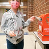 Sophia Salazar, daughter of Emma Estep and Jack Salazar drops her letter into Santa's mailbox at Prairie View Elementary School. Sophia attends Prairie View Elementary.