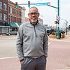 Elkhart City Council at-large representative Arvis Dawson poses for a photo at the intersection of Main Street and Lexington Avenue in Elkhart in March.