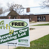 Goshen Public Library offering free wifi in the parking lot.