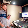 Douglas Riley works in the studio with Eddie Gore, owner and chief  engineer at Historic RCA Studio C on Music Row in Nashville, Tennessee.