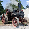 A steam powered tractor sets idling Saturday during the Wakarusa Vintage Power Show in Wakarusa.