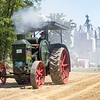 John Borkholder drives a 1926 Rumely Oil Pull Saturday during the Wakarusa Vintage Power Show in Wakarusa.