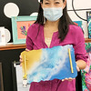 NorthWood High School teacher Cho Long McGowan shows one of the resin trays she created and has for sale at the Nappanee Art Center. McGowan said she just started working with resin during quarantine.