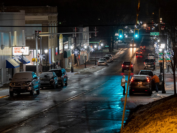 A view of the Christmas lights display along North Huntington Street Wednesday in Syracuse.