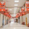 Vacant halls fill the interior of Goshen High School Monday afternoon at Goshen High School in Goshen.